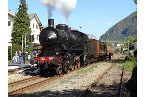 Italy Steam Locomotive